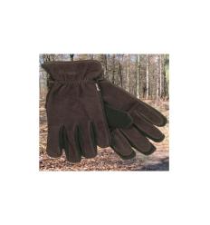 Nubuck handske med splitfinger