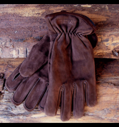 Handske Nubuck brun